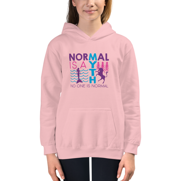 Normal is a Myth (Mermaid & Unicorn) Kid's Hoodie