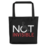 drawstring bag not invisible disabled disability special needs visible awareness diversity wheelchair inclusion inclusivity impaired acceptance
