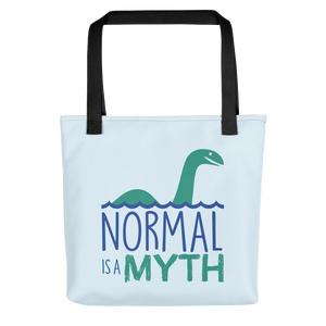 tote bag normal is a myth loch ness monster lochness peer pressure popularity disability special needs awareness inclusivity acceptance activism