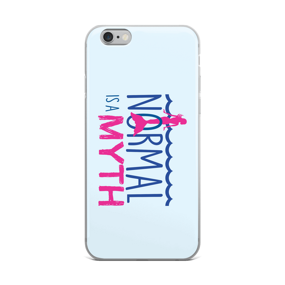 iPhone case normal is a myth mermaid peer pressure popularity disability special needs awareness inclusivity acceptance