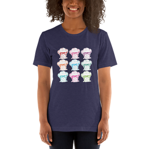 Shirt 9 Different Colored Faces of Sammi Haney Esperanza Netflix Raising Dion fan sassy wheelchair pink glasses disability osteogenesis imperfecta OI