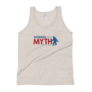 tank top normal is a myth big foot yeti sasquatch peer pressure popularity disability special needs awareness inclusivity acceptance activism