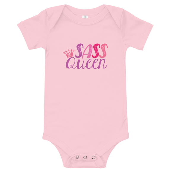 baby onesie babysuit bodysuit Sass Queen Fan Sammi Haney Esperanza Netflix Raising Dion sassy wheelchair pink glasses disability osteogenesis imperfecta