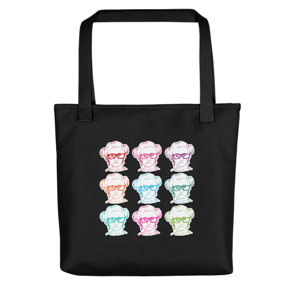 black tote bag 9 Different Colored Faces of Sammi Haney Esperanza Netflix Raising Dion fan sassy wheelchair pink glasses disability osteogenesis imperfecta OI