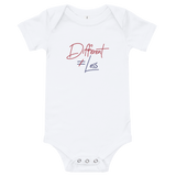 baby onesie babysuit bodysuit Different Does Not Equal Less Netflix Raising Dion Esperanza Sammi Haney #DDNEL disability inclusion wheelchair awareness