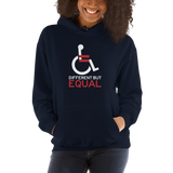 Different but Equal (Disability Equality Logo) Hoodie Dark Colors