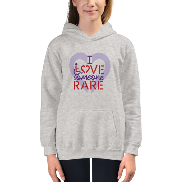 kid's hoodie I Love Someone with a Rare Condition medical disability disabilities awareness inclusion inclusivity diversity genetic disorder