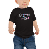 Different Does Not Equal Less (As Seen on Netflix's Raising Dion) Baby Black Shirt