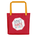Don't Hate Different (Tote Bag)