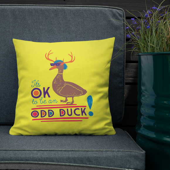 pillow It's OK to be an odd duck Raising Dion Esperanza fan Netflix Sammi Haney different bird