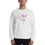Different Does Not Equal Less (Original Clean Design) Sweatshirt Light Colors