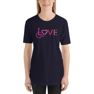 Shirt showing love for the special needs community heart disability wheelchair diversity awareness acceptance disabilities inclusivity inclusion