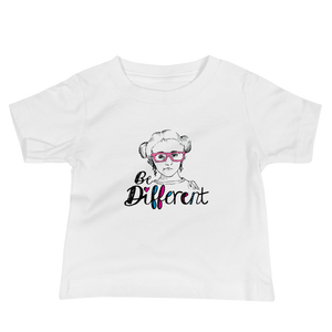 baby shirt be different Raising Dion Esperanza fan Netflix Sammi Haney wheelchair pink glasses disability osteogenesis imperfecta