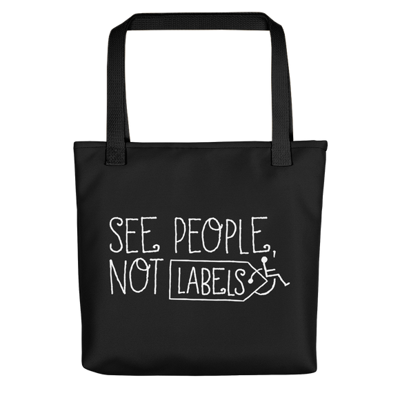 tote bag people labels label disability special needs awareness diversity wheelchair inclusion inclusivity acceptance