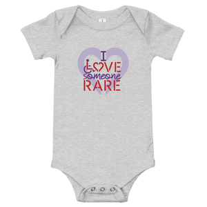 baby onesie babysuit bodysuit I Love Someone with a Rare Condition medical disability disabilities awareness inclusion inclusivity diversity genetic disorder
