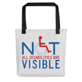 Not All Disabilities are Visible (Grey Tote Bag)