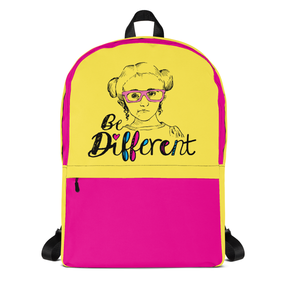 backpack school be different Raising Dion Esperanza fan Netflix Sammi Haney wheelchair pink glasses disability osteogenesis imperfecta