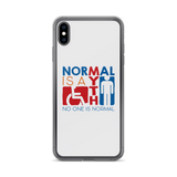 Normal is a Myth (Sign Icons) iPhone Case