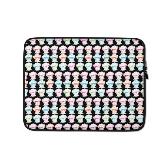 laptop sleeve print all over Different Colored Faces of Sammi Haney Esperanza Netflix Raising Dion fan sassy wheelchair pink glasses disability osteogenesis imperfecta OI