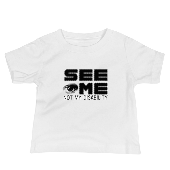 baby shirt See me not my disability wheelchair invisible acceptance special needs awareness diversity inclusion inclusivity