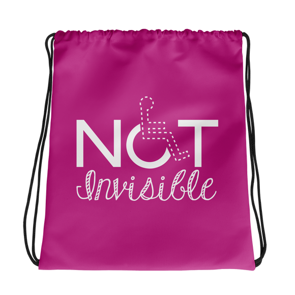 drawstring bag invisible disability special needs awareness diversity wheelchair inclusion inclusivity acceptance
