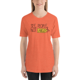 See People, Not Labels (Special Needs Parent Shirt) Orange Label