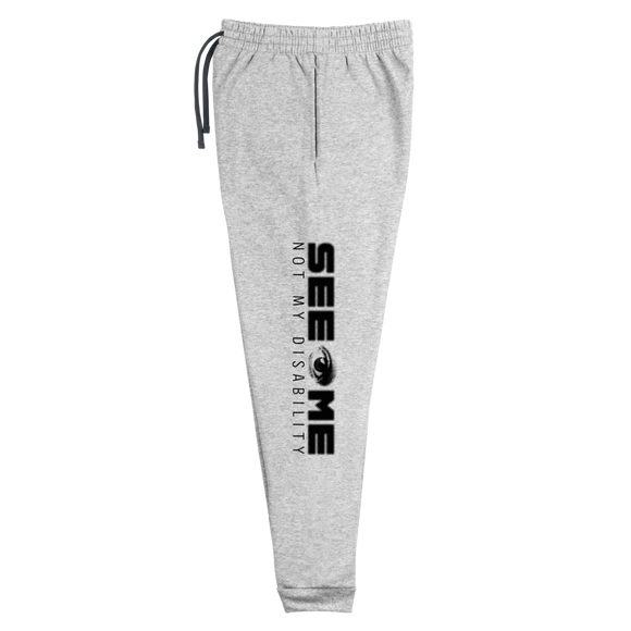 sweatpants joggers See me not my disability wheelchair invisible acceptance special needs awareness diversity inclusion inclusivity