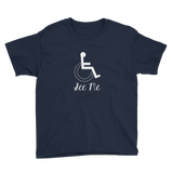 See Me (Not My Disability) Youth Dark Color Shirts for Girls