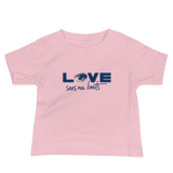 Love Sees No Limits (Halftone Design, Baby Shirt)
