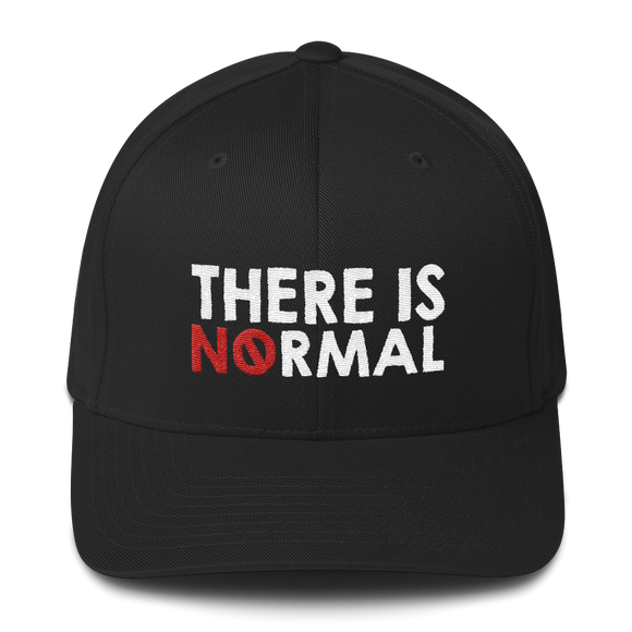 There is No Normal (Text Only Design) Structured Twill Cap