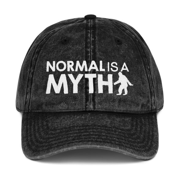 hat normal is a myth big foot yeti sasquatch peer pressure popularity disability special needs awareness inclusivity acceptance activism