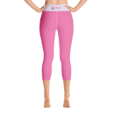 Love (for the Special Needs Community) Pink Yoga Capri Leggings