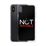 Not Invisible (Black iPhone Case)