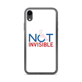Not Invisible (White iPhone Case)