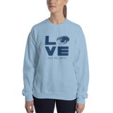Love Sees No Limits (Halftone Stacked Design, Sweatshirt)