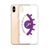 See the Person, Not the Disability (Eyelash Design) White iPhone Case