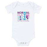 Normal is a Myth (Mermaid & Unicorn) Girl's Baby Onesie