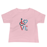 LOVE (for the Special Needs Community) Baby Shirt Stacked Design 3 of 3