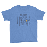 My Child's Happiness is Not Handicapped (Youth Sized Adult Shirt for Little People)