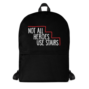 school backpack Not All Heroes Use Stairs hero role model super star ableism disability rights inclusion wheelchair disability inclusive disabilities