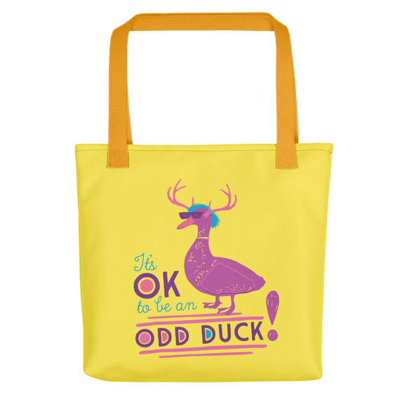 tote bag It's OK to be an odd duck Raising Dion Esperanza fan Netflix Sammi Haney different bird