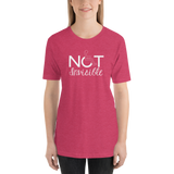 Shirt not invisible disabled disability special needs visible awareness diversity wheelchair inclusion inclusivity impaired acceptance