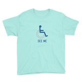 See Me (Not My Disability) Youth Light Color Shirts
