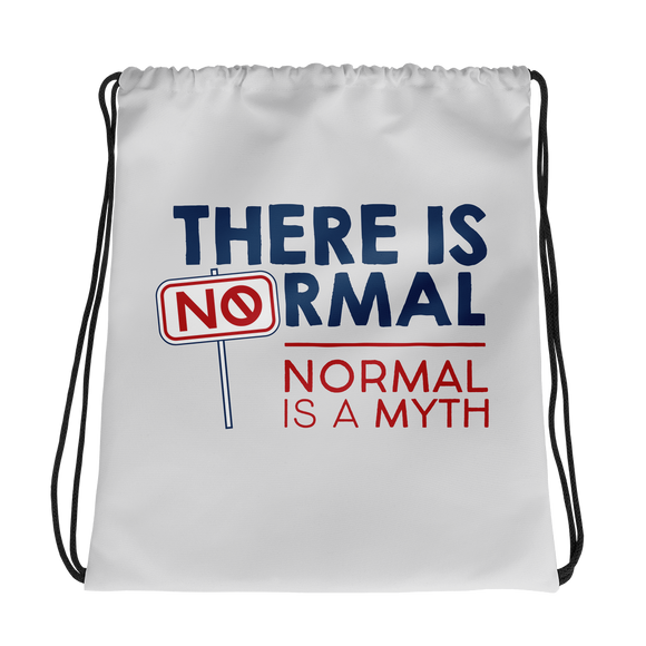 drawstring bag there is no normal myth peer pressure popularity disability special needs awareness diversity inclusion inclusivity acceptance activism