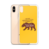 Never Underestimate the power of a Special Needs Papa Bear! iPhone Case