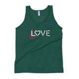 LOVE (for the Special Needs Community) Unisex Tank Top Dark Colors