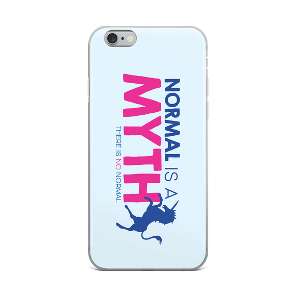 iPhone case normal is a myth unicorn peer pressure popularity disability special needs awareness inclusivity acceptance activism