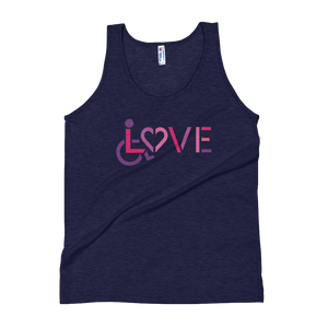 tank top showing love for the special needs community heart disability wheelchair diversity awareness acceptance disabilities inclusivity inclusion