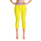 Different Does Not Equal Less (As Seen on Netflix's Raising Dion) Yellow Yoga Capri Leggings
