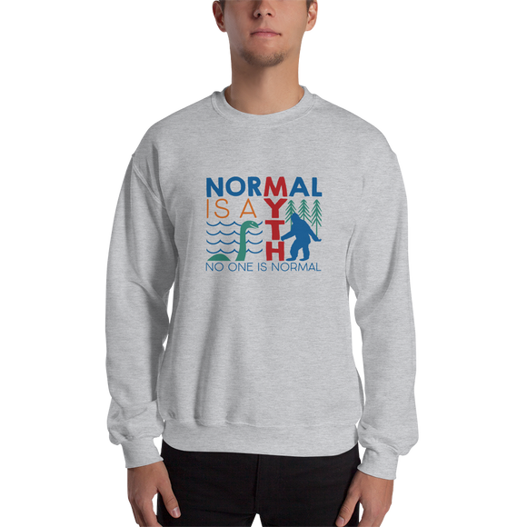 sweatshirt normal is a myth big foot loch ness lochness yeti sasquatch disability special needs awareness inclusivity acceptance activism
